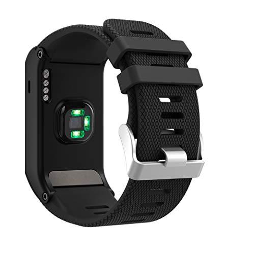 Syxinn Kompatibel mit Vivoactive HR Armband, Weiches Silikon Ersatz Uhrenarmband Armbänder Sportband mit Tools kompatibel für Vivoactive HR (Schwarz)
