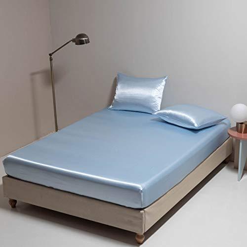 IKITOBI Sábana bajera ajustable para cama doble, extra profunda, suave, resistente a las arrugas, 180 x 200 cm+30 cm
