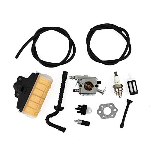 TDPARTS Carburetor with Repower Kit Air Filter Fuel Line Primer Bulb for STIHL 021 023 025 MS210 MS230 MS250 Easy Start Version Chainsaw Zama WT-286 Carb