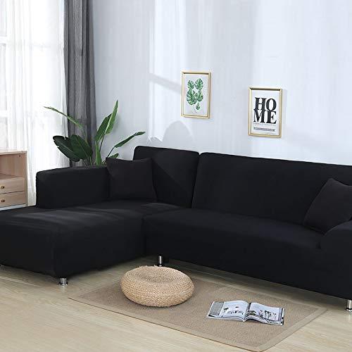 WXQY Graue, Schlichte, elastische Stretch-Sofabezug, kann für L-förmiges Bodensofa, modulares Sofa und Chaiselongue A16 3-Sitzer verwendet Werden