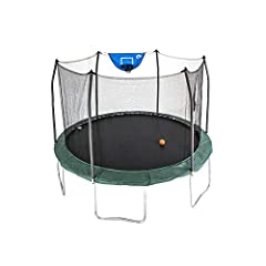 TITLE: Skywalker Trampolines 12-Foot Jump N' Dunk Trampoline with Enclosure Net - Basketball Trampoline SAFETY IS OUR #1 PRIORITY: Patented enclosure eliminates gaps between the enclosure net and the jumping surface protecting children from pinch poi...