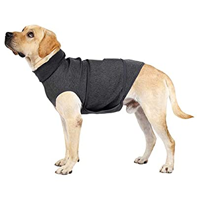 Dog Anxiety Relief Coat Lightweight Soft Anxiety Jacket Vest Wrap Shirt For Anxious Pets Relief Stress Keep Calming Comfort (Medium, Grey)