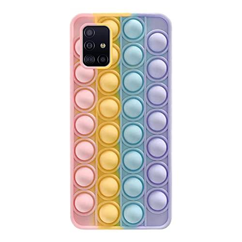 Push Bubble Fidget Sensory Case - Bubble Angst Relief Autisme Cover, Siliconen Fidget Toy Phone case Reliver Stress Shockproof Beschermende Mobiele Telefoon Case voor Samsung Galaxy A31/A51