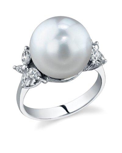 The Pearl Source - Collana di perle di acqua dolce da 7-8 mm, in oro 14 k, 45 cm, Oro giallo, cod. 1