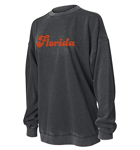 Elite Fan Shop Florida Gators Women's Crewneck Sweatshirt - Large - Charcoal
