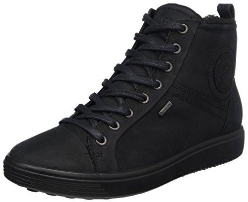 ECCO Mädchen Soft 7 Ladies Hohe Sneaker, Schwarz (Black), 35 EU
