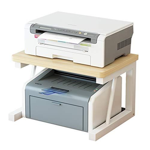 Soporte para impresora Soporte de almacenamiento p 2-capa Estantes soporte de la impresora de escritorio de madera Rack de almacenamiento del estante Oficina Tabla Organizador del hogar multifunción d