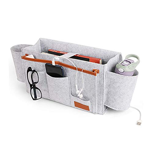SCFFT - Organizador para mesilla de noche, sofá de almacenamiento para teléfono con control remoto, gafas, bolígrafo, varios accesorios de fieltro, A, A