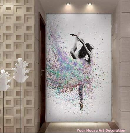 MHHDD Tanzmädchen Leinwand Malerei Home Wanddekoration HD gedruckt Elegante tanzende Ballerina Modulare Bilder Ballett Poster und Drucke50x75cm No Frame