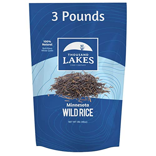 Thousand Lakes Minnesota Grown Wild Rice - 3 pounds (48 ounces) - Bulk Pouch | 100% Wild Rice | All...