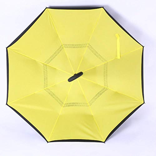 1 stücke Umgekehrter Regenschirm Regen Frauen Doppelschicht Umgekehrter Regenschirm Sonnenschirm Winddicht Regen Auto Umgekehrte Regenschirme Für Frauen Männer, 801
