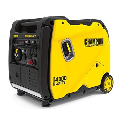 Champion Power Equipment 200986 4500-Watt Portable Inverter Generator, RV Ready