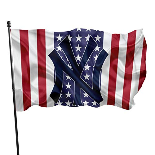 Fremont Die New-York-Yan&Kees Flag 3x5 ft Banner Flags Decorative for OutdoorGarden Flag Polyester Fabric UV Protected