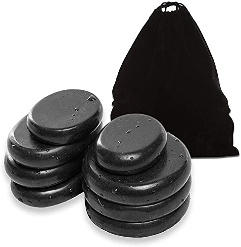 Bacaby Hot Stones - 8Pcs Large Essential Massage Stones Set ,Basalt Hot Rocks Stones for...