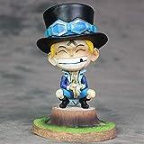 JINFENFG One Piece Childhood Saab Vendaje Vendaje Saab Anime Figura 15CM (5.91in) En Caja/PVC Estatu...