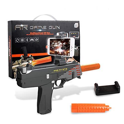 Wj Juguete Rifle AR Realidad Aumentada Gamepad y la Onda de Choque, 4D simulación somatosensorial Oportunidad Real de conexión Bluetooth Inteligente Material de Salud Ambiental,Black2
