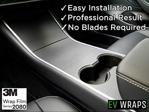 EV Wraps Tesla Model 3 / Model Y Center Console Wrap - Matte Deep Black