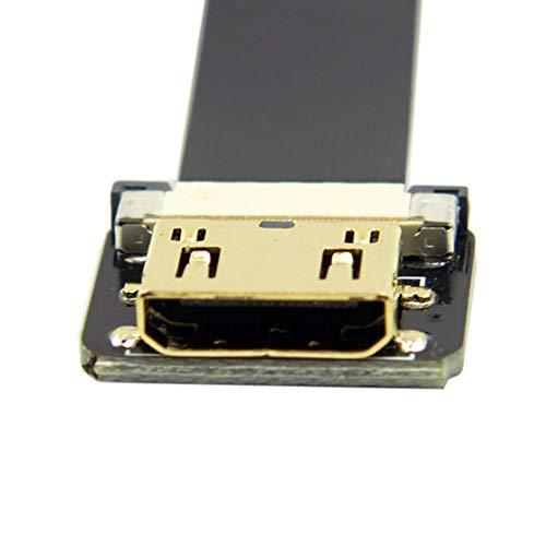 HDMI-naar-HDMI HD-kabel, hoge FPV gebogen naar Jack Mini Verlengkabel 90 graden FPC-kabel Gemakkelijk te gebruiken