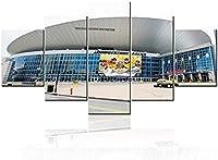 モダンな家の装飾リビングルームブリヂストンクローズアップ絵画キャンバスに印刷ナッシュビルテネシー州アメリカスタジアム写真壁アート国立ホッケーチームアートワーク