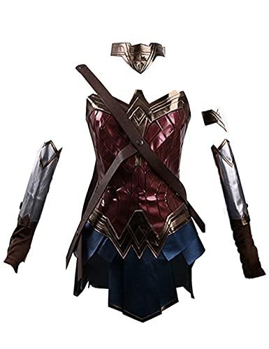 W-oN-d-Er W-o-M-An Disfraz de Cosplay - Traje de cosplay para mujer Uniforme Traje de fiesta de carnaval de Halloween para niñas