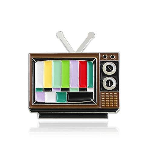 Brosche Klavier Nähmaschine Cokey Hund Schlittschuh Lamian Nudel Spieluhr Müllkamera Reiserucksack Fernsehen TV Emaille Pins-Style 5