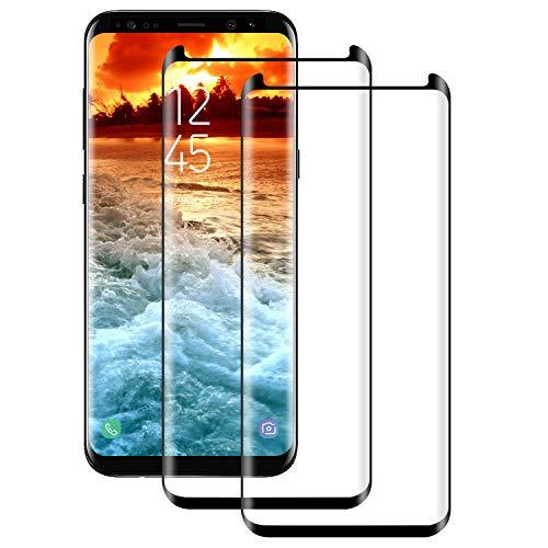 DASFOND-2 Piezas Protector de Pantalla para Samsung Galaxy S9 Plus [Alta Definición y Sensibilidad] [Alta Cobertura][9H Dureza] [Anti-Arañazo] Vidrio Templado Cristal Templado Samsung Galaxy S9 Plus