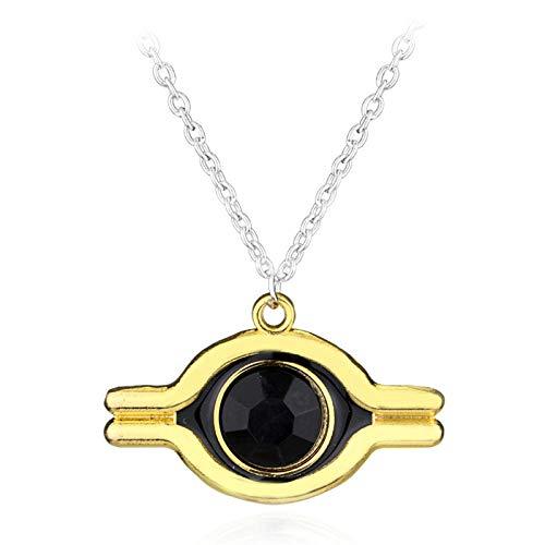 Joyería de Navidad para mujer, tono dorado, ojo de Horus, collar del Antiguo Egipto, cadena de eslabones, collares, accesorios de fiesta llamativos-1