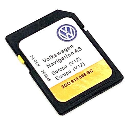 Última tarjeta SD 2020/2021 para Volkswagen Navigation AS Discover Media SD Card Sat Nav Map Update V12 Cover All Europe Número de pieza: 3GO919866BC