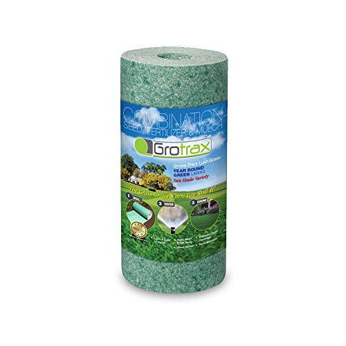 Grotrax Quick Fix Roll - 50 Square Feet Grass Seed Mat