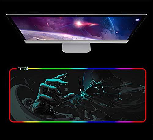 RGB Gaming Mauspad Led Großwild Großes Schreibtisch Pad rutschfeste Gummibasis wasserdichte Mausmatte Valorant 800X300X3Mm