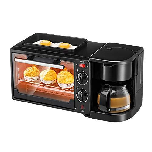 LYY Multifuncional Horno Máquina De Desayuno Tres En Uno Inicio Tostadora Automática Cafetera Omelette Microondas
