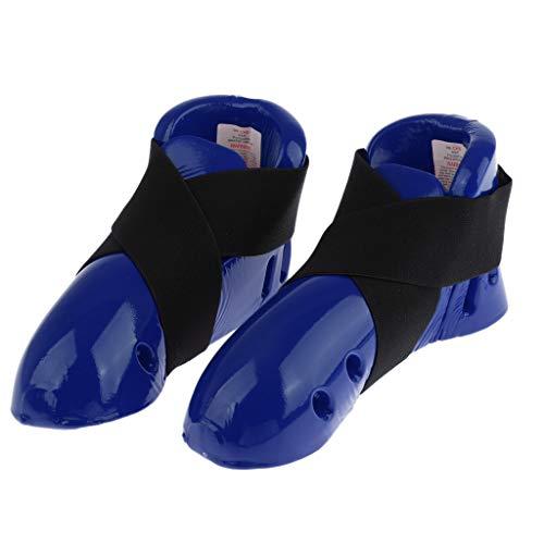 freneci Protector de Pie de Zapato de Espuma de Equipo de Protección de Karate para Niños Taekwondo MMA - Azul, s