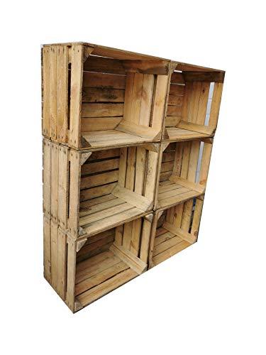 Caisses à Fruits vieillies et usagées dans de Nombreuses Variantes - Idéal pour la Construction de Meubles ou pour Le Rangement - Très Solides et Stables
