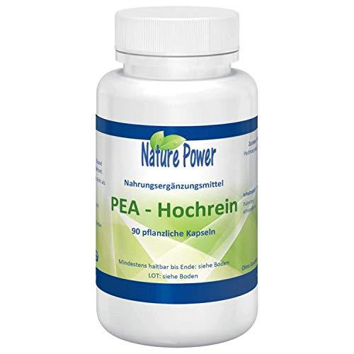 PEA | Palmitoylethanolamid | hochrein | 100% pur | 400 mg pro Kapsel | 90 pflanzliche Kapseln | vegan | von NATURE POWER