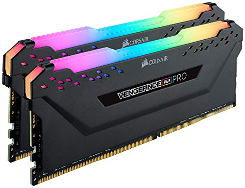 Corsair Vengeance RGB PRO 64GB (2 x 32GB) DDR4 3000 (PC4-24000) C16 Desktop memory – schwarz