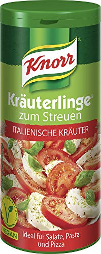 Knorr Kräuterlinge Gewürzmischung Italienische Kräuter (Harmonisches Kräuterbouquet zum Streuen für Salat, Pasta oder Pizza - vegan), 1 x 60 g