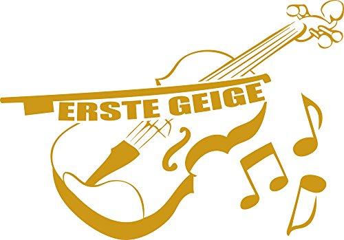 GRAZDesign muurtattoo eerste viool - muursticker woonkamer hal instrument 72x50cm 820 Mustard