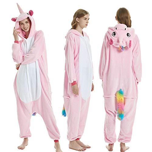 XRRRO Meisjes Jongens Volwassenen Pyjama Flanellen Dier Kostuum Kleding Cosplay Slaapmode voor Kinderen Vrouw Man