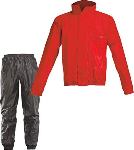 Acerbis Tuta antipioggia completa, L, rosso/nero