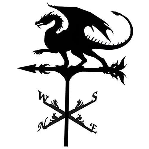 #N/A/a Veleta de Hierro Veleta metálica de Hierro Veleta de Viento Veleta Retro Veleta del Tiempo jardín Patio Ornamento decoración Veleta - Dragón