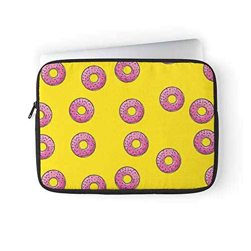 The Simpsons Donut Pink Doughnut Laptop Sleeve Case Cover Handbag for MacBook Pro/MacBook Air/Asus/Dell/Lenovo/Hp/Samsung/Sony.Etc