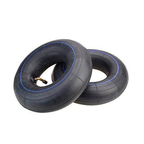 Goofit 2 pcs 3.00-4 incurvé courbé pneu de tube intérieur de tige pour quad électrique vieux homme scooter