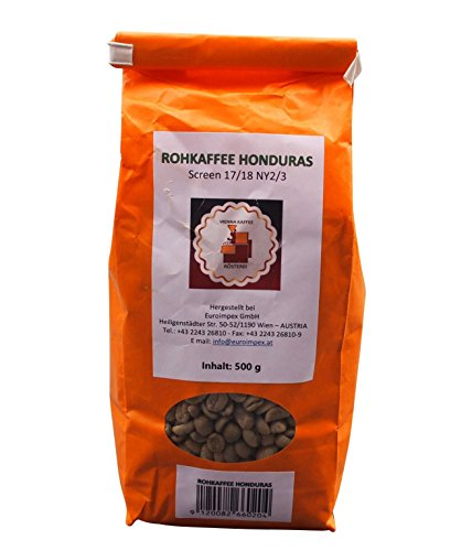 Vienna Kaffee Rösterei - Honduras Rohkaffee - Grüner Arabica Kaffee aus Honduras (500g)