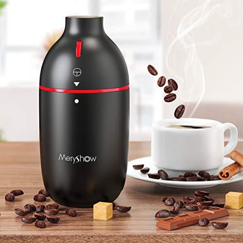 【2021年最新進化モデル】MeryShowコーヒーミル コーヒーミル電動 ミルミキサー コーヒーグラインダー  おしゃれ  ハイパワー 急速挽く 均一な粉末 一台多役 水洗い可能 過熱保護 掃除ブラシ付き