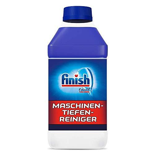 Finish Maschinentiefenreiniger – Flüssiger Maschinenreiniger gegen Kalk und Fett für eine saubere Spülmaschine – Sparpack mit 1 x 250 ml Maschinenpfleger