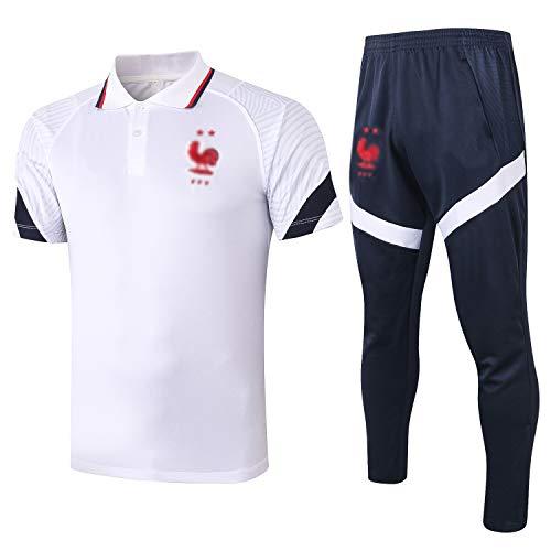 TD Fußball Kleidung Verein lose beiläufige Männer Home Sport Anzug Trainingsanzug Jersey-Oberteile und Hosen BX0037 (Size : L)