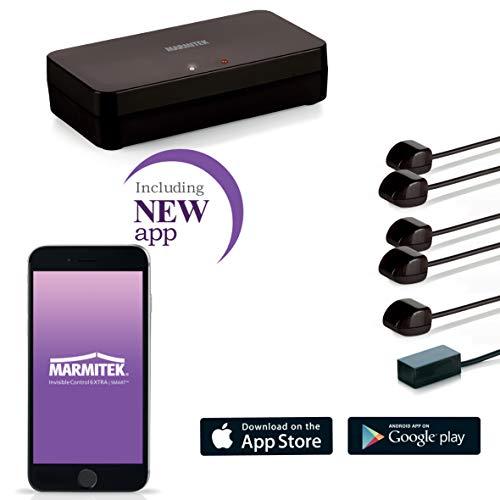 Marmitek Invisible Control 6 XTRA SMART - Infrarotverlängerung - Blaster - extra kleiner Empfänger - mit App -  Bedienung Geräten in einem geschlossenen Schrank mit Ihre Fernbedienung oder Handy