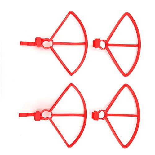 FairytaleMM 4 STÜCKE Schutz Ring Propeller Schutzfolie Rahmen Schutzhülle Für Hubsan Zino H117S RC Drone Blades Teile (Rot)