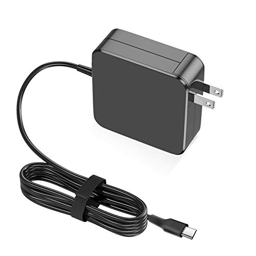 Replacement Laptop Charger, 65W/61W USB C Charger Power Adapter for MacBook Pro 13/12 Lenovo,ASUS,Acer,Dell,Matebook, HP, Thinkpad and Any Other Laptops with The Type C