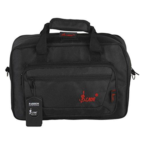 Wasserdicht Gig Bag Box Oxford Tuch Tasche für Klarinette mit Schultergurt, Foam Baumwolle gefütterte - Schwarz